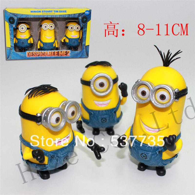 Despicable Me 2 ME2 Talking Minion Lot Dave Stuart Tim 3 Minions Set of 3pcs(China (Mainland))