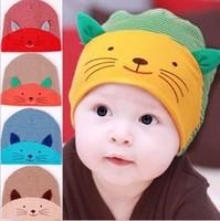 $3.9 New Baby Cap Fashion Infant Hat Boys & Girls Skull Cat Hats Kids Hats Children Cotton Homies Animal Caps free shipping
