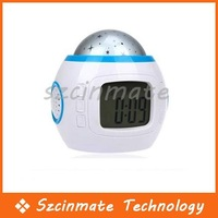 Free Shipping Digital Color Change Star Light Projection Alarm Clock 10pcs/lot Wholesale