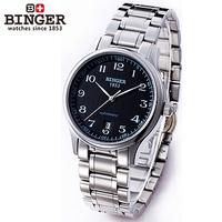 Binger accusative case watch mechanical watch male watch commercial waterproof vintage mens watch gh3  =Bd4