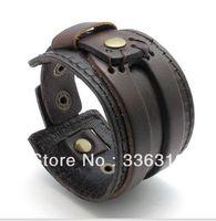 LBG0022114  FashionJeruk Punk Style Bracelet Leather Men Women Punk Fashion Belt Bangle Cuff Wristband