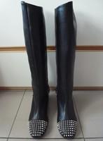 Free shipping high quality fashion female black rivet boots