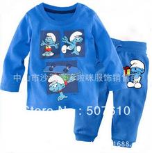 baby pajamas Baby Pyjamas Children Pyjamas Children Sleepwear baby long sleeve underwear clothing kids clear suits 6sets/lot 014(China (Mainland))