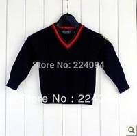 Freeshipping  2013 boy's autumn full t-shirt 100% cotton fashion boy's t-shirt  4colors 1-6years old children' s autumn clothing