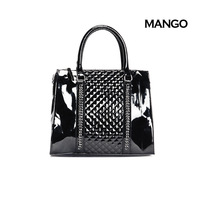 Mng mango messenger bag handbag japanned leather bag plaid bag fashion normic chain patent leather handbag women's