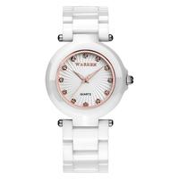 0 shipping Warren watch ladies watch ceramic watch vintage fashion quartz watch waterproof table  =Bw4