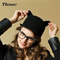 2013 Fashion New Womens Unisex Warm Winter Cat Ear Skullies Beanies Small Fedoras Hat  Free Shipping