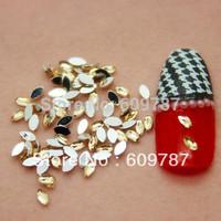 Free Shipping 10000pcs/lot Yellow Flatback Marquise nail art Rhinestone stone decorations