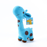 27cm Blue Kids Baby Plush Toy Stuffed Cute Plush Donkey Dot Colorful Doll Gift Free DropShipping
