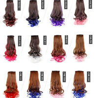 Gradient volume ponytail wig  hair weaves accessories fake ponytail ponytail ponytail wigs wholesale factory