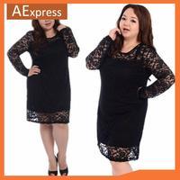 Autumn New Arrival Long Sleeve Dresses for Women, Fashion Lace Dress with Plus Size XL, XXL, XXXL, 4XL, P-150