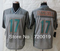 2013 Fashion Miami  17 Ryan  Tannehill  Grey  Elite Jerseys American Football Jerseys M-XXXL  Free Shipping