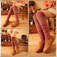 2013 winter cashmere patchwork thickening thermal knee-high socks piles of socks thick