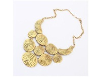 Min.order is $10 vintage Statement Necklace Bubble  Free Shipping Vintage Brand Metal Collar Necklace Pendants