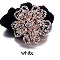 Fashion New Beautiful Shiny Wedding Crystal Hairwear For Women Hair Bands Hair Accessories Rhinestone Flower Hairwear