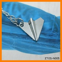 Hottest One Direction 1D Harry Paper Plane necklace Free Shipping 20 pcs/lot ZTOD-N005