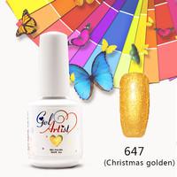 12 PCS  GelArtist  Uv Nail Gel  Soak Off Polish Nail Glitter Gel Mix  Colors Set  the best gel nail (1 base+10colors+1 top )