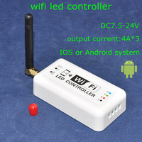 Airmail shipping, DC7.5-24V 4A*3 output current mini led wifi controller with white shell for android and iPhone and ipad system