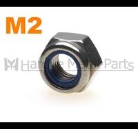 M2 DIN985 Stainless steel Nylon insert lock nut 500pcs/lot Free shipping