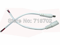 Free shipping 10set DC 2.1X5.5mm Conenctor Power Panel 35cm Cable With Screw Cap