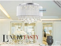 Led chandelier with modern minimalist living room lamp crystal lamp bedroom lamp lighting D168 restaurant