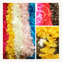 Multicolor diy three-dimensional chiffon leaves flip flops laciness material accessories the light wire lace decoration