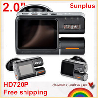 "SAVE EVEN MORE!2.0"" LCD Sunplus Mini Car DVR  Full HD720P Dash DVR Car Video Camera Recorder C900 recorder 120 Degree Wide Angle"