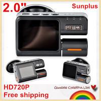 """SAVE EVEN MORE!2.0"""" LCD Sunplus Mini Car DVR  Full HD720P Dash DVR Car Video Camera Recorder C900 recorder 120 Degree Wide Angle"""