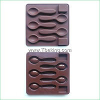 New Silicone Cookie Chocolate Mold Candy Jelly Cake Decorating Spoon,Sugar Shape