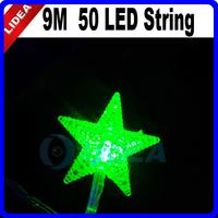 New 2014 Hot 9M 110V/220V 50 LED XMAS Fairy String New Year Star Christmas Tree Light Outdoor Wedding Decoration CN C-25