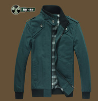 2013 Fashion Cyan Winter Coat Outwear Mens Boys Man Jacket Slim Stylish Top Designed , Free & Drop Shipping