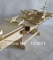 New2013diy children's educational wooden model of three-dimensional jigsaw puzzle carrier, free shipping!