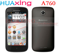 Freeshipping ! Lenovo A760 Original Phone 4.5 Inch IPS 854*480 Screen Qualcomm Quad Core 1GB RAM 4GB ROM Multi-language