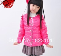 Hot blast with children flute Sally to qiu dong outfit fashionable joker down jacket of the girls show feather down jacket
