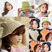 Fashion Korea Women's Lady Girl Knitting Wool Woolen Winter Hat Cap knitted New
