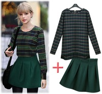 Free Shipping 2013 Winter ladies' fashion dress suits woollen sweater leisure suit
