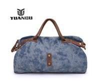 YUANGU New Fashion Casual Genuine Leather Canvas Big Capacity Travel Handbag Shoulder Bag Messenger Bag Bags For Men Women YG184