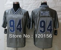 2013 Fashion Dallas 94 DeMarcus  Ware Grey  Elite American Football Jerseys Embroidered Logos Mix Order