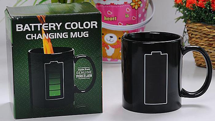 1 Pcs New Magic Battery Changing Mug Color Changing Tea Milk Ceramic Cups Novelty Drinkware Office Coffee Mug Free Shipping(China (Mainland))