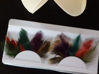 Multicolour false eyelashes feather halloween false eyelashes