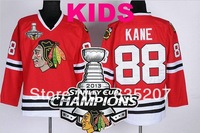 2013 Stanley Cup Champions Patch Youth Chicago Blackhawks #88 Patrick Ice Hockey Jersey Red Kids Embroidery logos S-XL