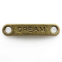 120pcs/lot 39*8mm antique bronze plated dream charms
