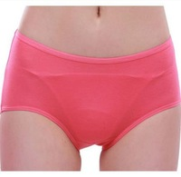 4334 free shipping ladies night menstrual physiological pants leakproof small flowers cotton briefs