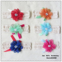 Baby Crochet  Elastic Headband With Flowers,Children Knitted Hair Band,Kids Accessories For Hair,FS105+Free Shipping