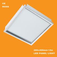 12w integrated led panel light/led ceiling light/led panel light for kitchen/bathroom/office/