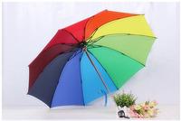 Triple folding umbrella, clear umbrella, folding umbrella, rainbow umbrella, 190T carom cloth, tear, strong and durable.