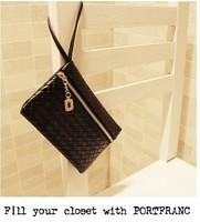 Free Shipping Fashion Lady Women Faux Leather Embossing Zipper Strap Handbag Clutch Evening Bag Purse Lots 5 Colours