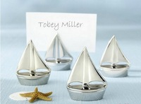 Wedding Gift Sailing Boat Seats Card Holder Room Decorate Wedding Table Stander Return Present