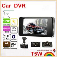 "SAVE EVEN MORE!2.7"" LCD Mini Car DVR  Dash DVR Car Video Camera Recorder 1080P T5W recorder 170 Degree Wide Angle,free shipping!"