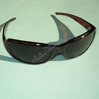 RED VISION IMPROVE EXERCISE MYOPIA NATURAL HEALING HEAL RELAX PINHOLE GLASSES